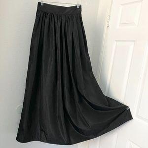 Black women's long skirt made in Korea S